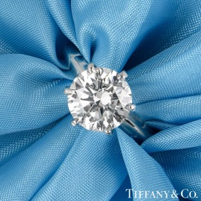 Tiffany & Co. Round Brilliant Cut Diamond Ring 2.80ct I/VVS2